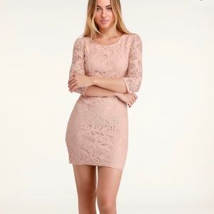 All for you lace bodycon dress